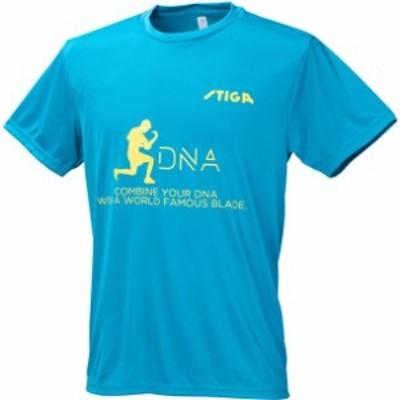 DNA Tシャツ サックスブルー L stiga スティガ タッキュウハンソデTシャツ (1856168806)
