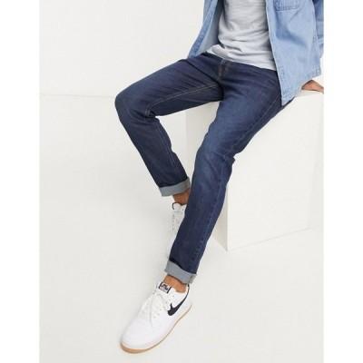 リー メンズ デニムパンツ ボトムス Lee Jeans Luke slim tapered jeans in dark blue wash Dark brisbee