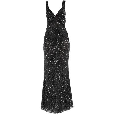 アティコ THE ATTICO ロングワンピース&ドレス ブラック 36 ナイロン 100% / ポリ塩化ビニル ロングワンピース&ドレス