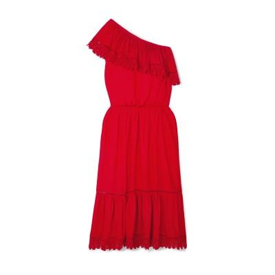 MELISSA ODABASH ビーチドレス レッド S レーヨン 100% ビーチドレス