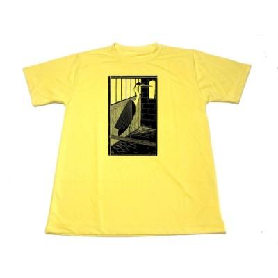 イエロー メスキータ ドライ Tシャツ 鳥かごの中のサギ サギ アニマル 版画 動物 名画 グッズ Mesquita   黄色