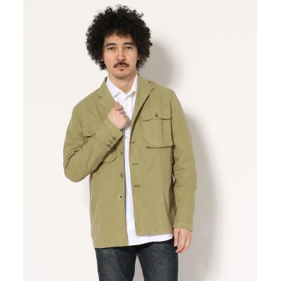 【RAWLIFE】 CAPRI/カプリ/military shirts jacket メンズ BEIGE M RAWLIFE