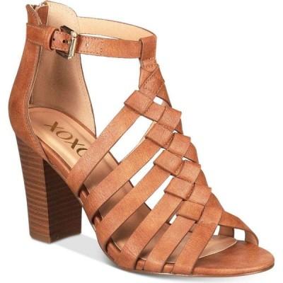 キスキス XOXO レディース サンダル・ミュール シューズ・靴 Baxter Strappy Block-Heel Sandals Tan