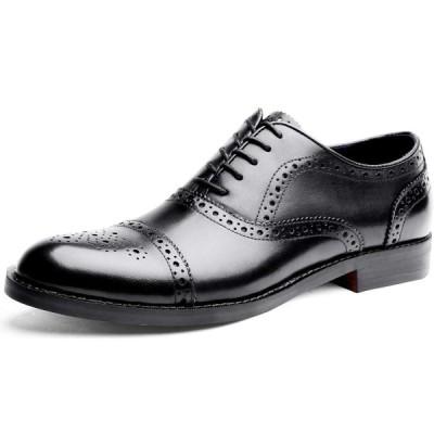 YIMANIE ビジネスシューズ メンズ 紳士靴 革靴 ストレートチップ ウイングチップ 本革 内羽根 高級靴 大きいサイズ