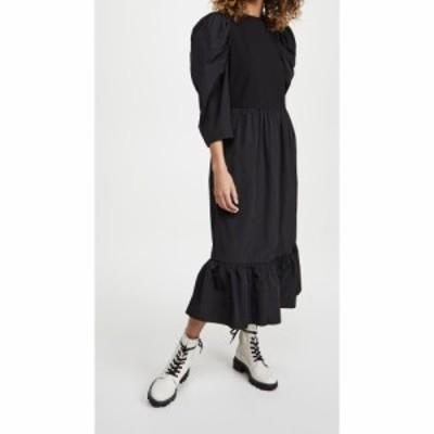 シー Sea レディース ワンピース ミドル丈 ワンピース・ドレス Nadja Taffeta Combo Midi Dress Black