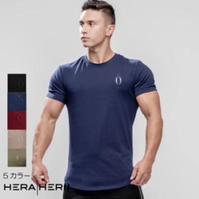 ヘラヒーロー HERA x HERO DLUXX T-SHIRT 半袖 Tシャツ メンズ ジムウェア スポーツウェア 重ね 大きいサイズ 黒 スポーティ 筋トレ[衣類