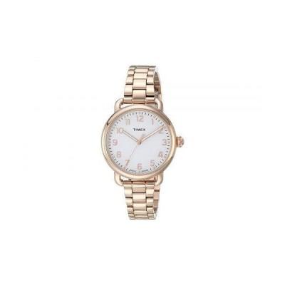 Timex タイメックス レディース 女性用 腕時計 ウォッチ ファッション時計 34 mm Standard - Rose Gold/Rose Gold/Rose Gold