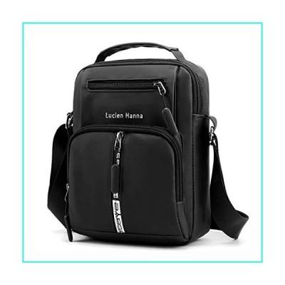 【新品】Men's Messenger Bag Shoulder Travel Bag Man Purse Waterproof Cross Body Bags for Work Business College Black(並行輸入品)