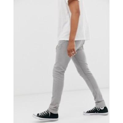 オールセインツ メンズ デニムパンツ ボトムス AllSaints cigarette fit jeans in gray wash Gray