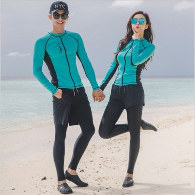 ラッシュガード水着 レディース メンズ 水着 サーフィン 水着 メンズ サーフパンツ 長袖 トランクス 長袖 UVカット プール UV対策 紫外線対策 ダイビングウエア
