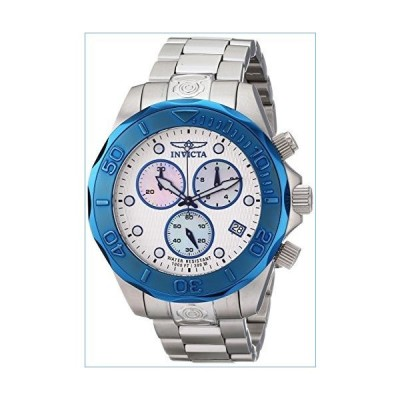 Invicta Men's 11449 Pro Diver Chronograph Silver Textured Dial Stainless Steel Watch並行輸入品