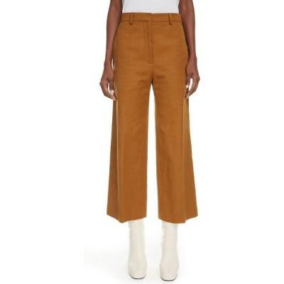 ケンゾー KENZO レディース クロップド ボトムス・パンツ Cotton & Linen Crop Pants Dark Camel