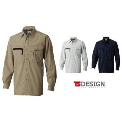 TS DESIGN 藤和 1505 長袖シャツ S〜4L 作業服 TSDESIGN ティーエスデザイン TOPSHALETON