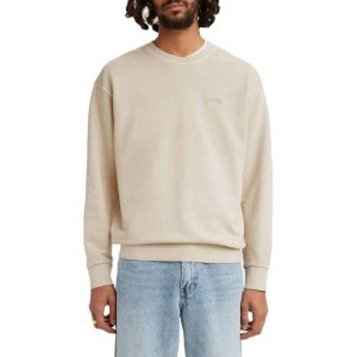 リーバイス メンズ パーカー・スウェット アウター Levi's Men's Relaxed Crewneck Sweatshirt Pumice Strone Garment Dye
