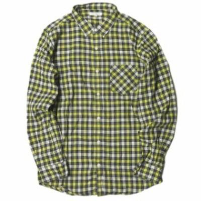 URBAN RESEARCH アーバンリサーチ 日本製 コットンチェックシャツ 40 イエロー 長袖 トップス