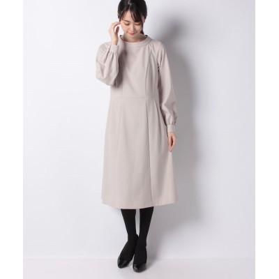 (MISS J/ミス ジェイ)【洗える】ラフクレープツイルドレス/レディース ベージュ