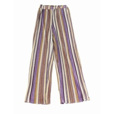 Gold ゴールド ファッション パンツ Know One Cares Womens Gold Purple Size XS Shimmer Striped Pull-On Pants