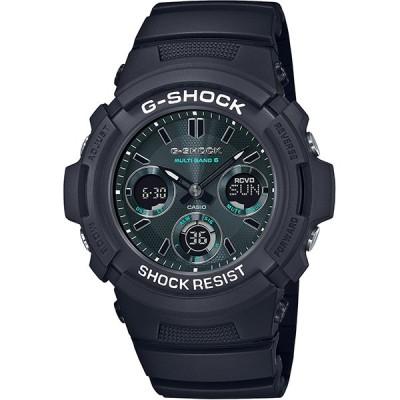 カシオ メンズ腕時計 ジーショック AWG-M100SMG-1AJF 電波ソーラーウオッチ ブラック&グリーンシリーズ ラバーバンド CASIO G-SHOCK 新品 国内正規品