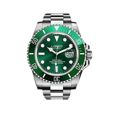 Automatic Watch for Men Luxury Dress Watch L9201G Luminous Waterproof Watch (Green) 並行輸入品