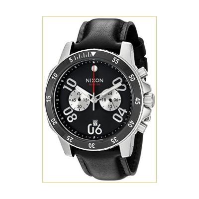 Nixon Men's A940000-00 Ranger Chrono Leather Analog Display Quartz Black Watch 並行輸入品