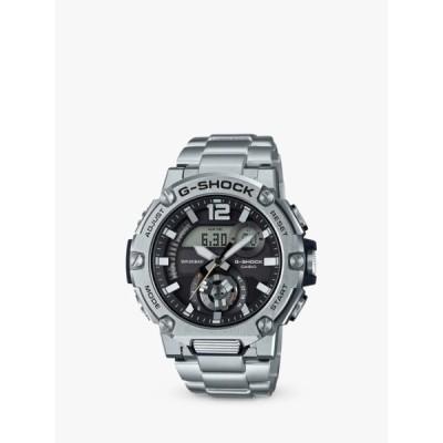 カシオ 腕時計 メンズ アクセサリー Casio GST-B300SD-1AER Men's G-Shock Metal Bracelet Strap Watch, Silver/Black
