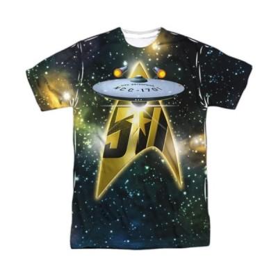 Tシャツ スタートレック Star Trek Anniversary Enterprise Sublimation Licensed Adult T Shirt