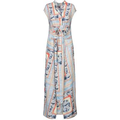 OPALINE ロングワンピース&ドレス スカイブルー S レーヨン 100% ロングワンピース&ドレス