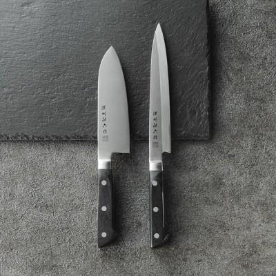 濃州孫六作 料理包丁2点セット(プロフェッショナル) (80V)