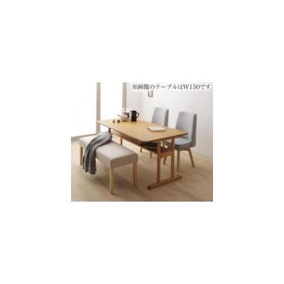 ダイニングテーブルセット 4点(テーブル+チェア2脚+ベンチ1脚) W120 回転チェア 回転式 ダイニングチェア ダイニングセット