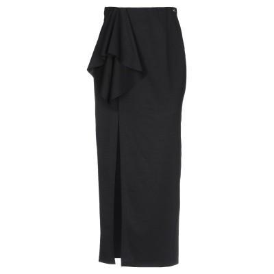 MANGANO ロングスカート ブラック S ポリエステル 95% / ポリウレタン 5% ロングスカート