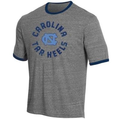 メンズ スポーツリーグ アメリカ大学スポーツ Men's Russell Heathered Gray North Carolina Tar Heels Athletic Fit Crew Neck Tri-Blend