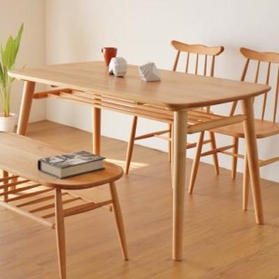 ダイニングテーブル 食卓 天然木 アルダー材 NORN 幅130cm ( 送料無料 テーブル 食卓テーブル 机 ダイニング リビング 4人掛け 4人 ノル
