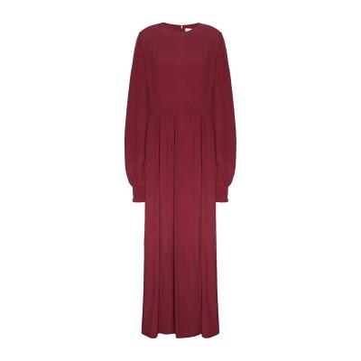8 by YOOX ロングワンピース&ドレス ボルドー 38 レーヨン 53% / ラミー 47% ロングワンピース&ドレス