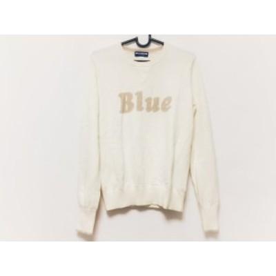 バーバリーブルーレーベル Burberry Blue Label 長袖セーター サイズ38 M レディース アイボリー×ベージュ【中古】20201008