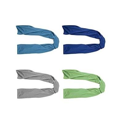"4 Packs Cooling Towel (40""x 12""), Ice Towel, Microfiber Towel, Soft Breatha"