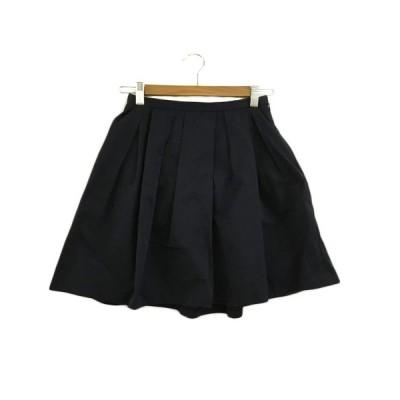 【中古】クローラ crolla スカート フレア ミニ プリーツ 36 紺 ネイビー レディース 【ベクトル 古着】