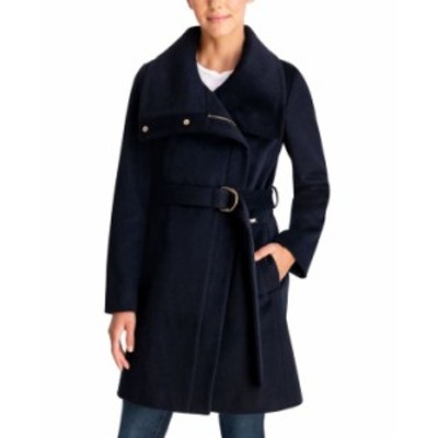 マイケルコース レディース コート アウター Belted Wrap Coat True Navy