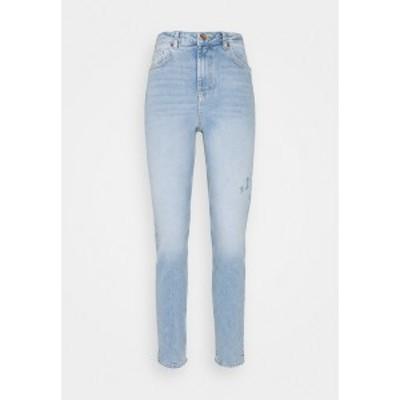 ピーシーズ レディース デニムパンツ ボトムス PCLEAH MOM  - Slim fit jeans - light blue light blue