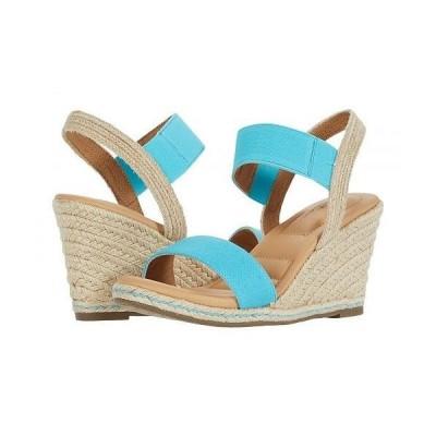 Me Too ミートゥー レディース 女性用 シューズ 靴 ヒール Barra - Turquoise Canvas