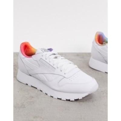 リーボック メンズ スニーカー シューズ Reebok Pride Classic Leather sneakers in white White