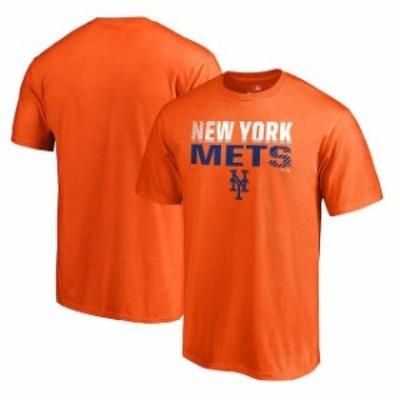 Fanatics Branded ファナティクス ブランド スポーツ用品  Fanatics Branded New York Mets Orange Team Fade Out T-Sh