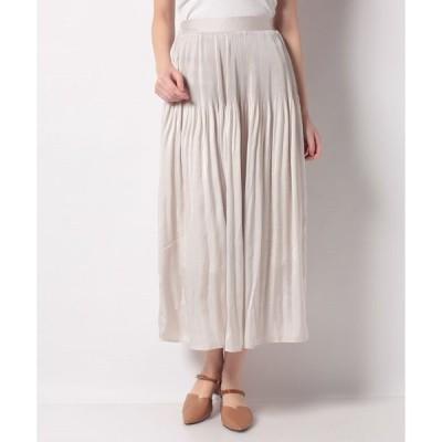 【メラン クルージュ】【Melan Cleuge women】ヴィンテージサテン消しプリーツスカート