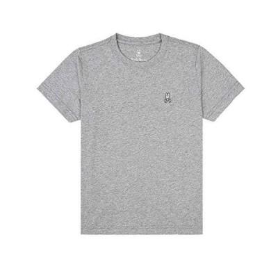 Psycho Bunny(サイコバニー)クルーネック Tシャツ 半袖 メンズ 下着 B6U014CRP HEATHER_GREY(062) M [並行