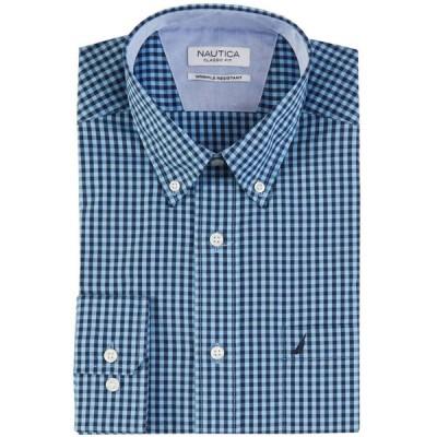 ドレスシャツ ノーティカ Nautica クラシック Fit Wrinkle Resistant Wind Gingham Shirt