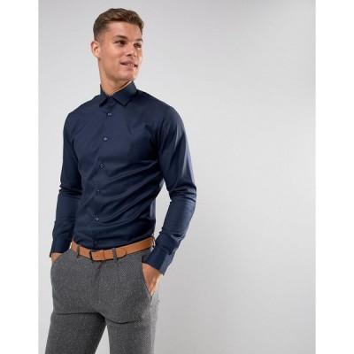 セレクテッド ワークシャツ メンズ Selected Homme Slim Easy Iron Smart Shirt エイソス ASOS