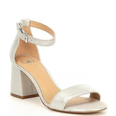 ジービー レディース サンダル シューズ Block-Party Leather Two-Piece Sandals Silver
