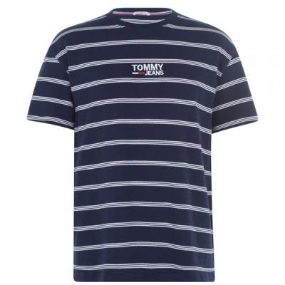トミー ジーンズ Tommy Jeans メンズ Tシャツ トップス Line T Shirt White