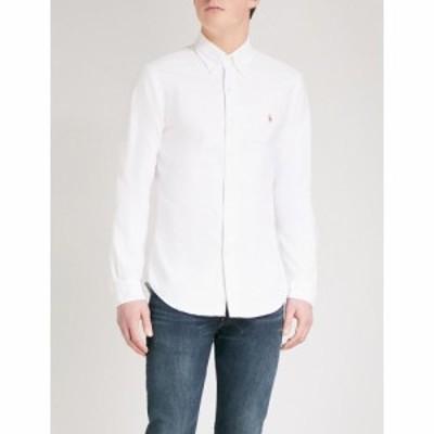 ラルフ ローレン POLO RALPH LAUREN メンズ シャツ トップス Embroidered logo slim fit single cuff shirt White