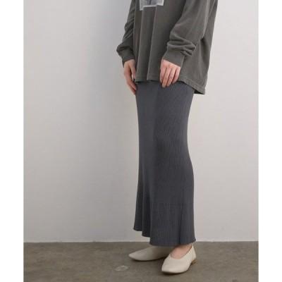 スカート 【セットアップ対応】ERISILK リブロングニットスカート
