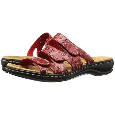 クラークス Leisa Cacti Q レディース サンダル Red Leather